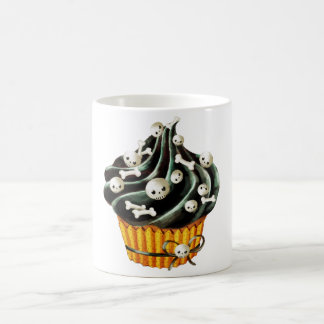 Black Halloween Cupcake Coffee Mugs