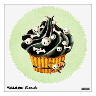Black Halloween Cupcake Room Sticker
