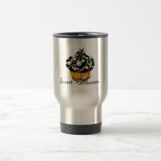 Black Halloween Cupcake Travel Mug