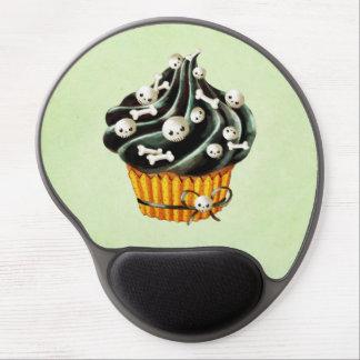 Black Halloween Cupcake with tiny skulls Gel Mouse Pad