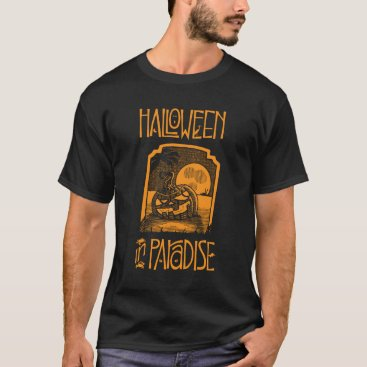 Beach Themed Black Halloween In Paradise Men's T-shirt