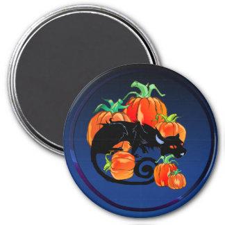 Black Halloween Kitty Magnet
