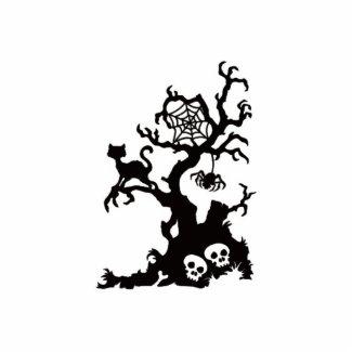 Black Halloween Spooky Tree photosculpture