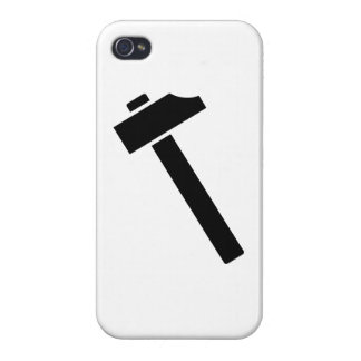 Black hammer icon case for iPhone 4
