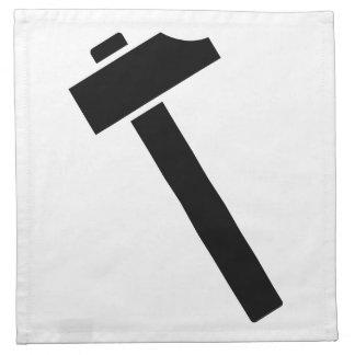 Black hammer icon napkin