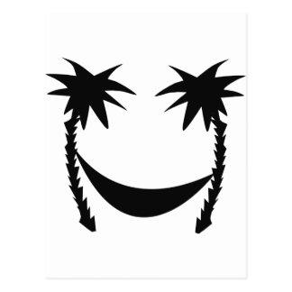 black hammock icon postcard