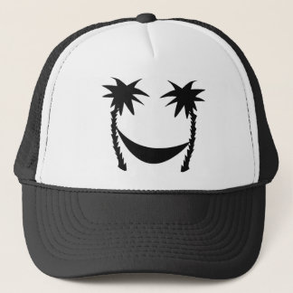 black hammock icon trucker hat
