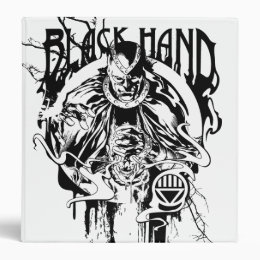 Black Hand 0 Graphic Collage, Black and White Binder