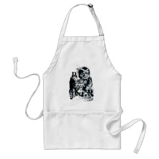Black Hand and Skull Collage Adult Apron