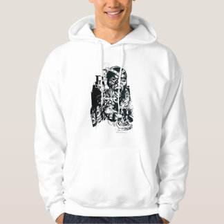 Black Hand and Skull Collage Hoodie