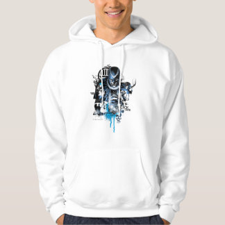 Black Hand - Blue Collage Hoodie