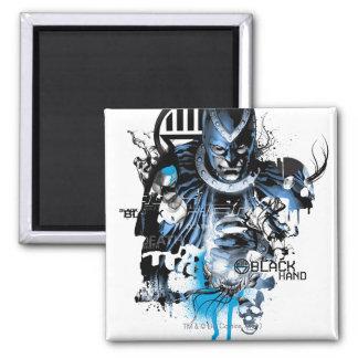 Black Hand - Blue Collage Magnet