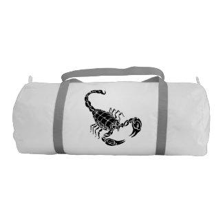Black Hand-drawn Scorpion Doodle Duffle Bag