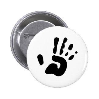 Black Hand Print Button