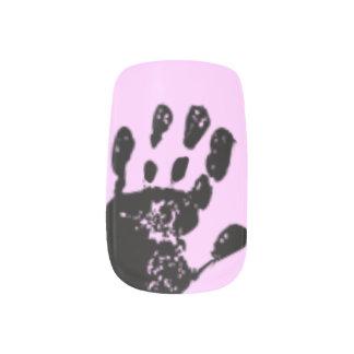 black hand print minx® nail wraps