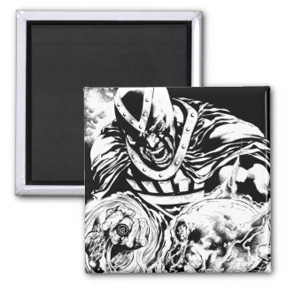 Black Hand with Skull Panel 2 Magnet