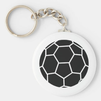 black handball icon keychain