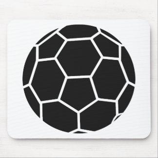 black handball icon mouse pad