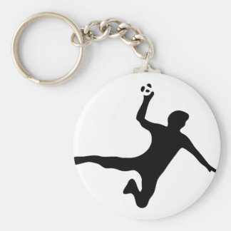 black handball player logo keychain