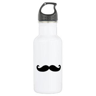 Black Handlebar Moustache/Mustache Stainless Steel Water Bottle
