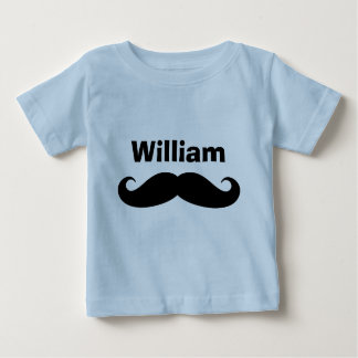 Black handlebar mustache baby creepers and shirts