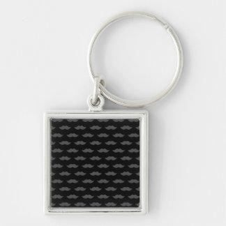 Black Handlebar Mustache Moustache Pattern Keychain