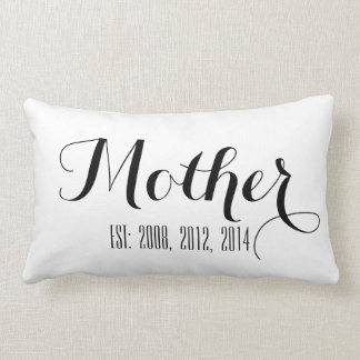 Black Handwriting Script | Mother's Day Pillow