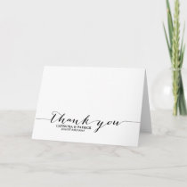 Black Handwritten Script Thank You Card