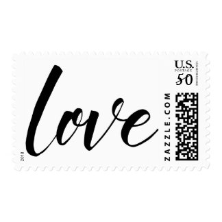 "Black Handwritten Typography, ""love"", 18a Postage"
