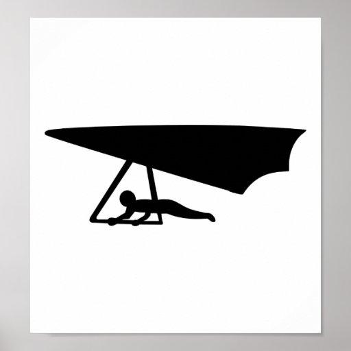 Black Hang glider Print