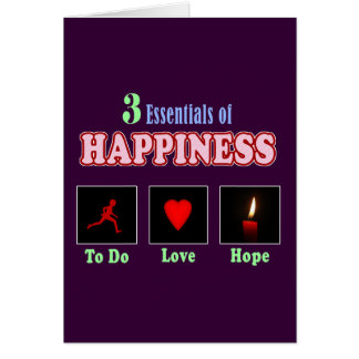 Black happiness card