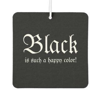 Black Happy Color Morticia Addams Air Freshener