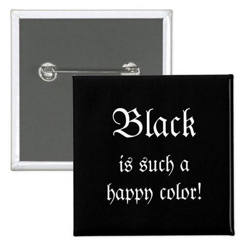 Black Happy Color Morticia Addams Button