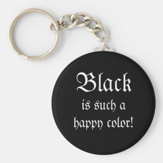 Black Happy Color Morticia Addams Keychain
