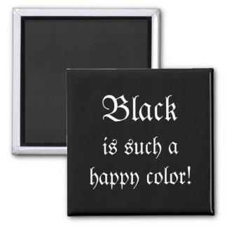 Black Happy Color Morticia Addams Magnet