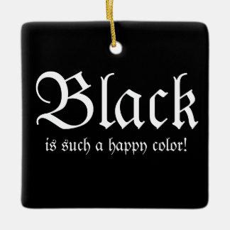 Black Happy Color Morticia Addams Oval Ornament