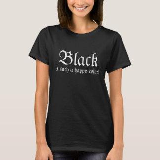 Black Happy Color Morticia Addams T-Shirt
