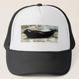 black harbor seal hat