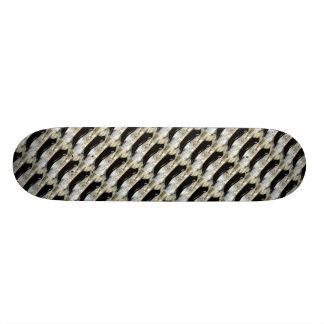 black harbor seals pattern skateboard