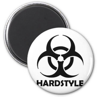 black hardstyle tribal fridge magnet