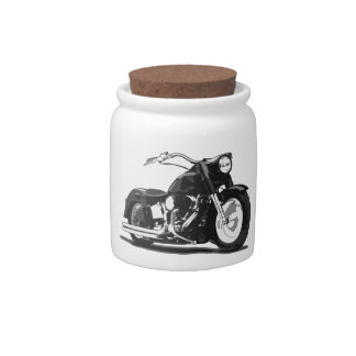 Black Harley motorcycle Candy Dish