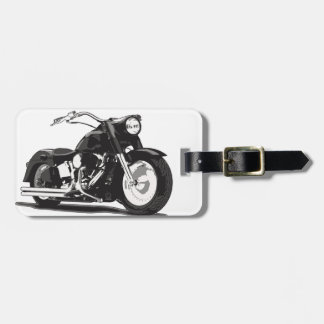 Black Harley motorcycle Tag For Bags