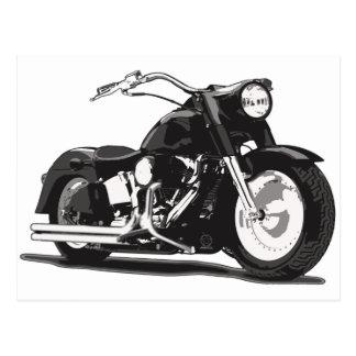 Black Harley motorcycle Post Card