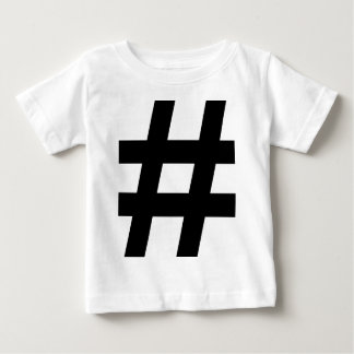 black hash number baby T-Shirt