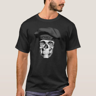 Black Hat Chef Skull T-Shirt