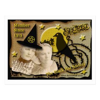 Black Hat Secret Society Post Card
