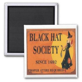 Black Hat Society Magnet Orange