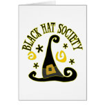 Black Hat Society Note Card Greeting Cards