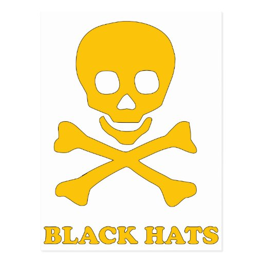 ** Black Hats ** Post Card