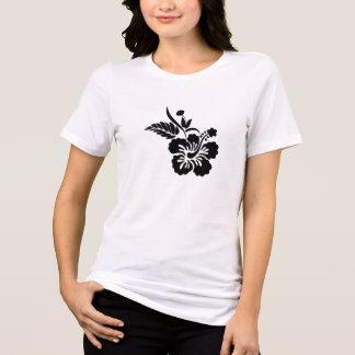 Black Hawaiian Flowers T-shirts
